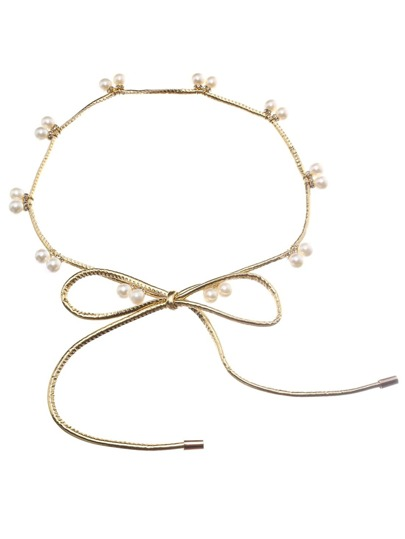 Gold Pearl Attached Waist Chain