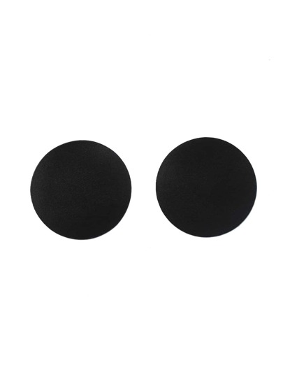 Round Silicone Breast Petals - Black
