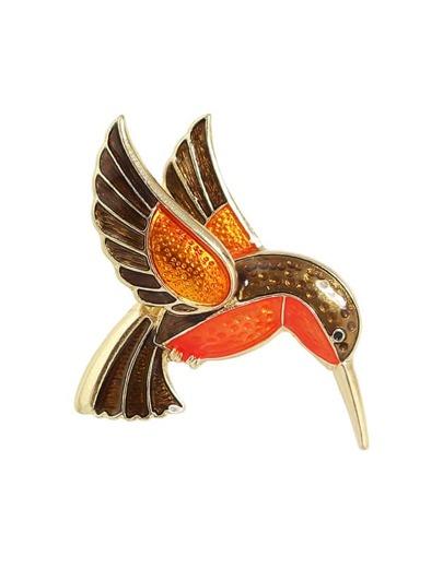 Broche forme en oiseau en émail