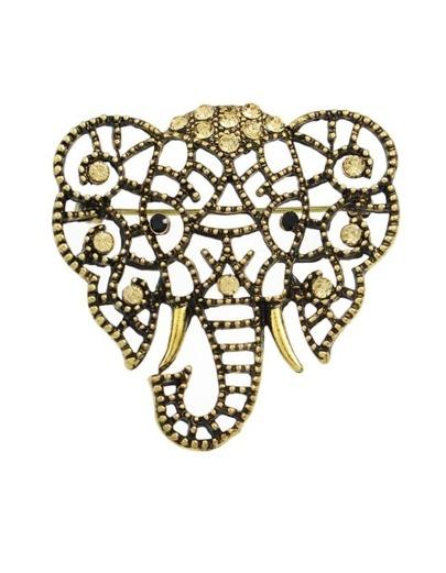 Gold Plated Cute Elephant Shape Brooch