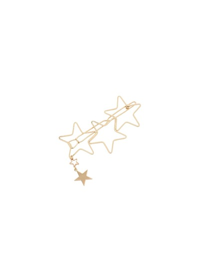 Gold Geometric Star Barrettes Hairwear