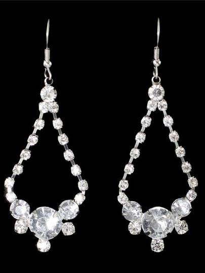 Rhinestone Long Drop Earrings