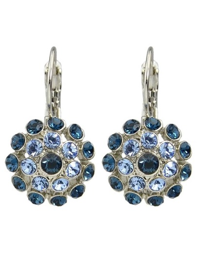 Rhinestone Flower Clip On Earrings