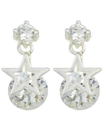 Star Shape Rhinestone Earrings