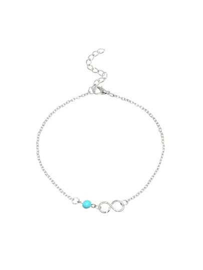 Beaded Infinity Symbol Anklet