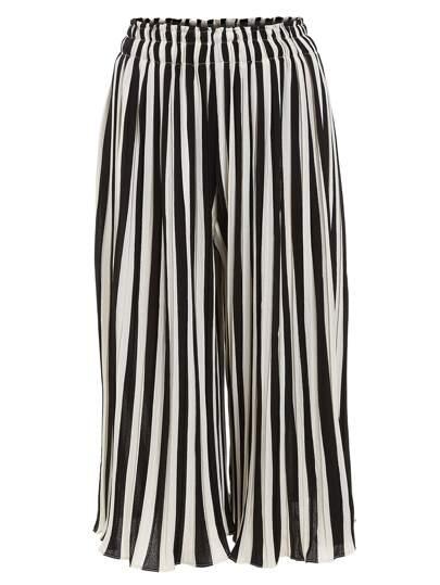 Vertical Striped Wide Leg Pants