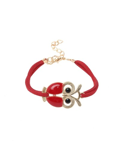 Red Owl high-shine Lobster Clasp Vintage Hand Chain