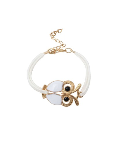 White Owl high-shine Lobster Clasp Vintage Hand Chain