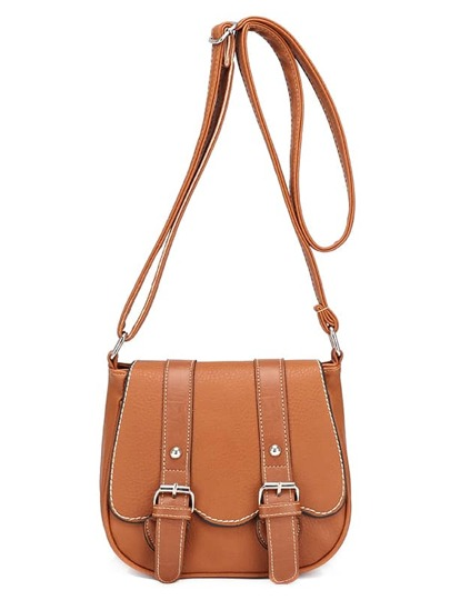 Dual Buckle Strap Saddle Bag