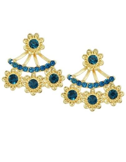Lakeblue Rhinestone Stud Earrings