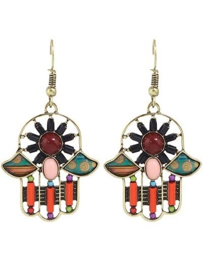 Orange Gemstone Drop Earrings