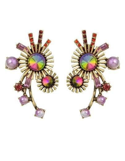 Colorful Rhinestone Stud Earrings