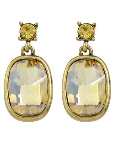 Big Single Rhinestone Stud Earrings