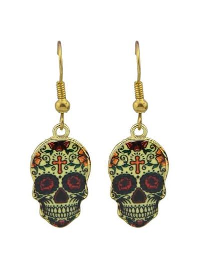 Colorful Cute Skull Drop Earrings