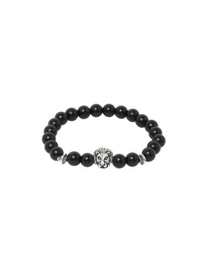 Obsidian With Silver Lionhead Bracelet
