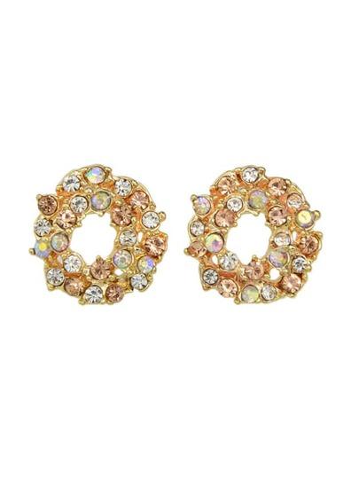 Colorful Rhinestone Small Stud Earrings
