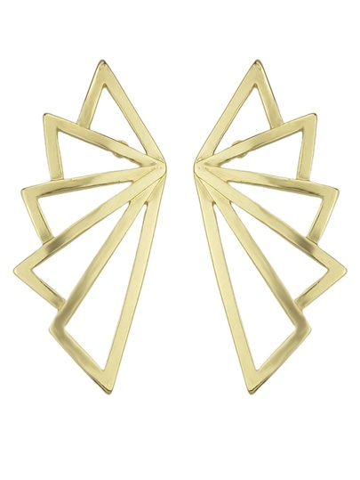 Gold Plated Wing Shape Stud Earrings