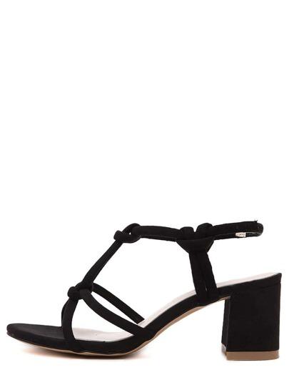 sandale bout ouvert - Noir