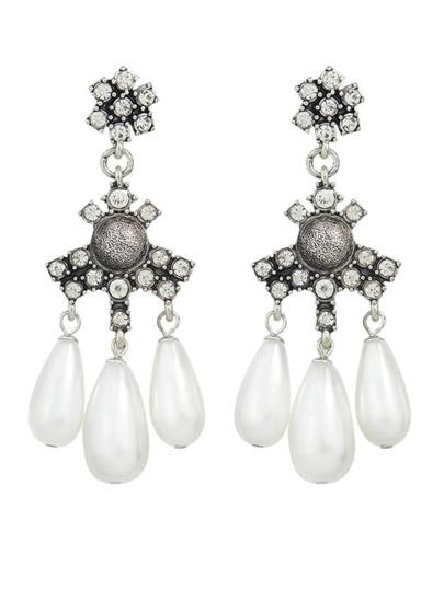Chandelier Style Rhinestone Earrings