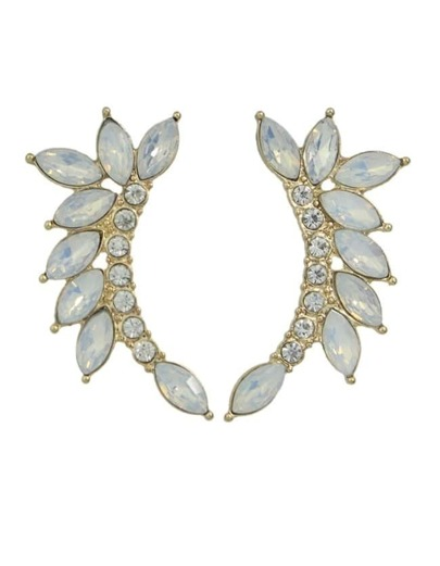 Rhinestoe Wing Shape Cuff Earrings