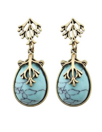 Blue Drop Turqoise Earrings