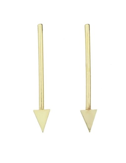 Gold Plated Long Stud Earrings