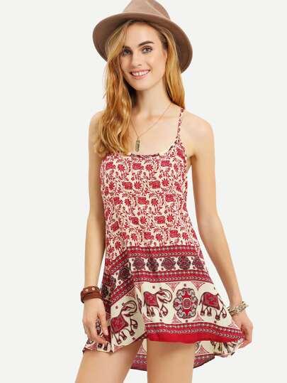 Tribal Print Racerback Cami Dress