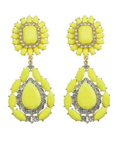 Yellow Flower Statement Earrings