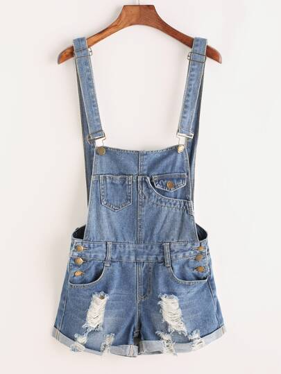 Denim Shorts mit Hohelm - blau