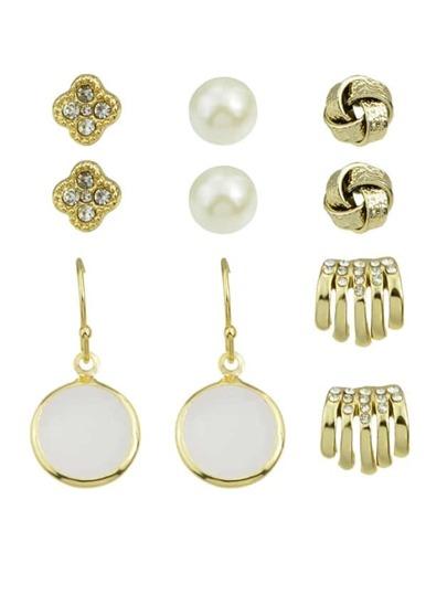 Rhinestone Small Stud Earrings