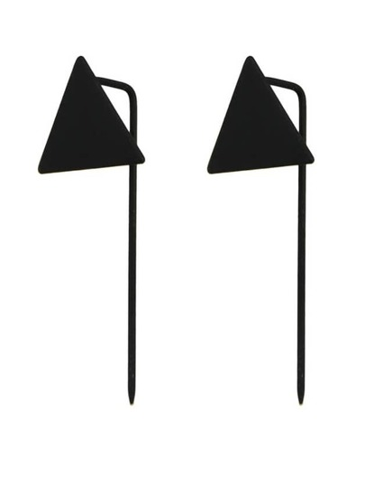 Black Long Stick Earrings