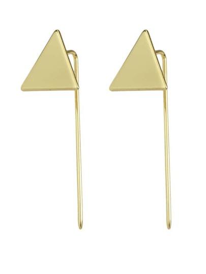Orecchini Lunghi Forma Bastone - Oro