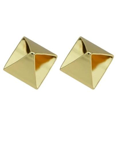 Gold Plated Geometric Stud Earrings