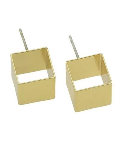 Gold Small Geometric Stud Earrings