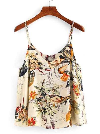 Flower Print Swing Cami Top