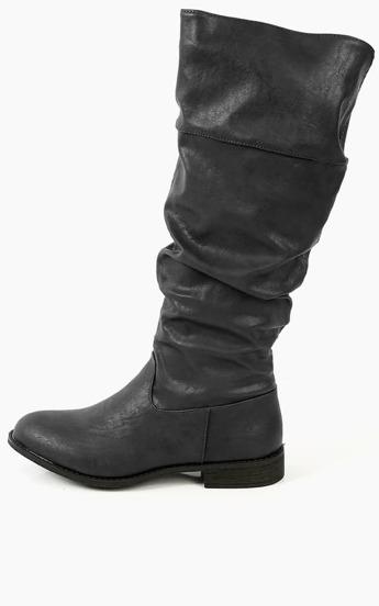 Wild Diva Lounge Oksana-59 Almond Toe Boots