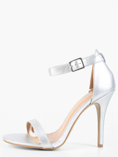 Metallic Single Sole Heels SILVER