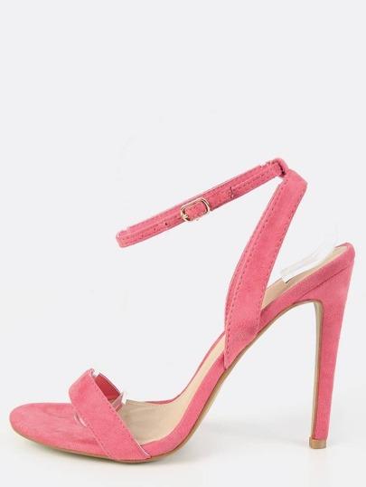 Single Sole Ankle Strap Heels PINK