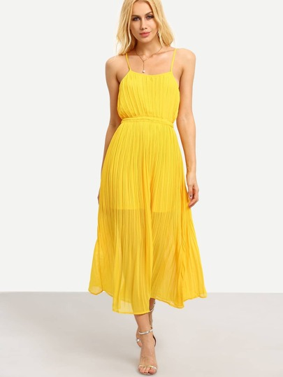 Pleated Chiffon Cami Dress