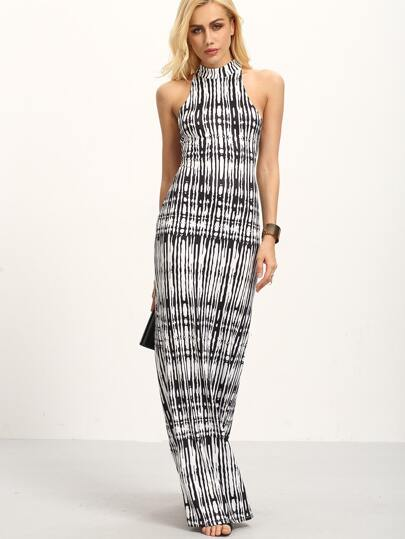 Halter Neck Cutout Back Maxi Dress
