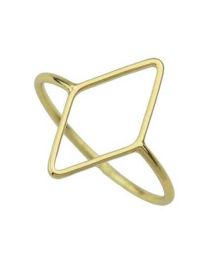 Gold Punk Rock Metal Ring