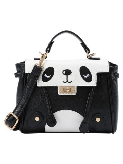 Black and White Panda Satchel Bag