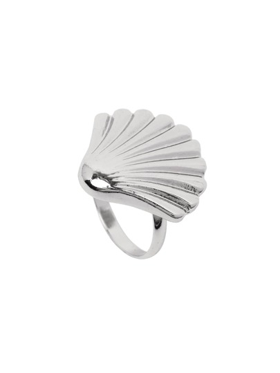 Silver Shell Feature Ring