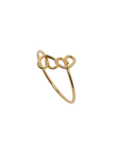 Gold Heart Feature Ring