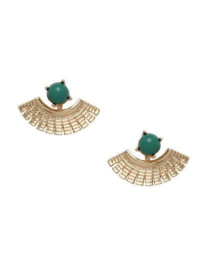 Faux Stone Fan Ear Jackets - Green