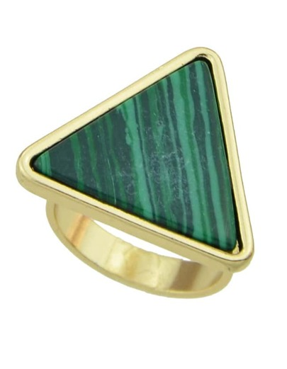 Green Turquoise Triangle Shape Ring