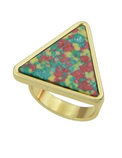 Redgreen Turquoise Triangle Shape Ring