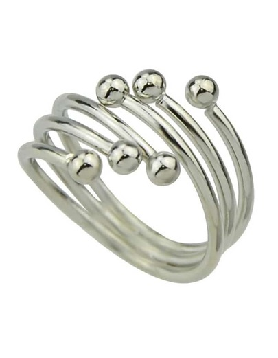Silver Plated Mid Finger Ring