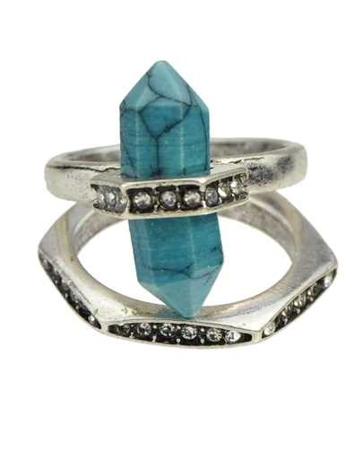 Silver Plated Turquoise Ring