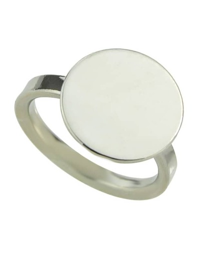 Silver Plated Round Shaped Ring